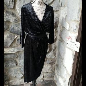 Eve Mendez Velvet Wrap Dress